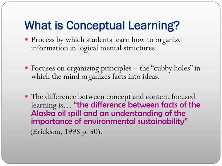 What is Conceptual Learning?