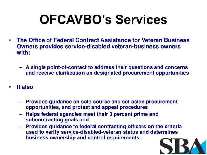 OFCAVBO's Services