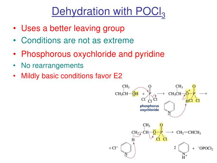 Dehydration with POCl