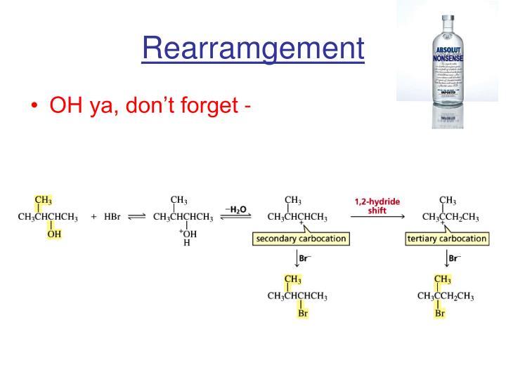 Rearramgement