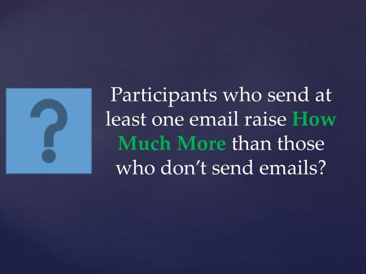 Participants who send at least one email raise