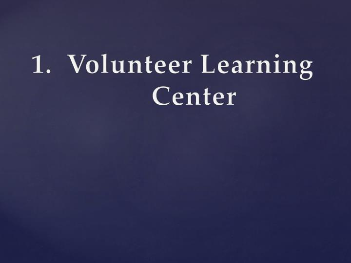 Volunteer Learning