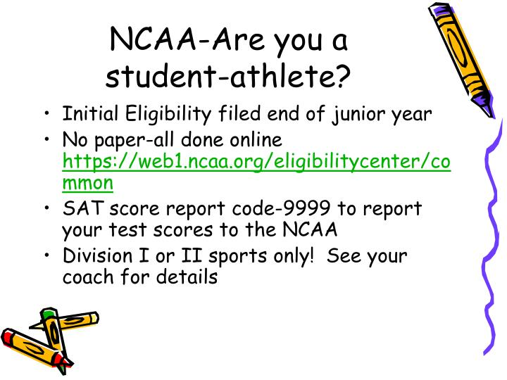 NCAA-Are you a student-athlete?