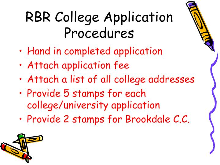 RBR College Application Procedures
