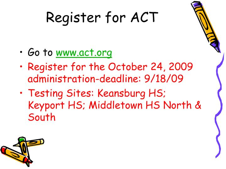 Register for ACT