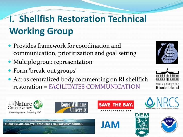 I.  Shellfish Restoration Technical Working Group