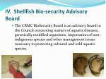 iv shellfish bio security advisory board