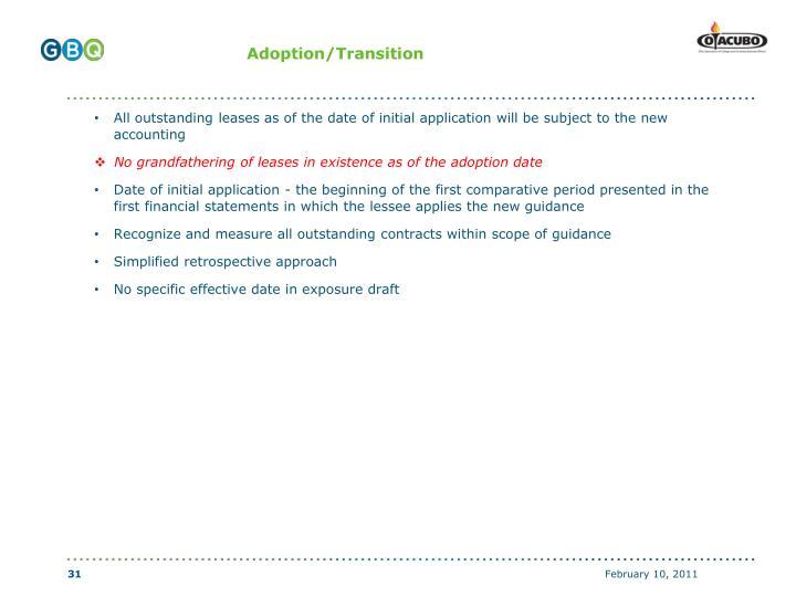 Adoption/Transition