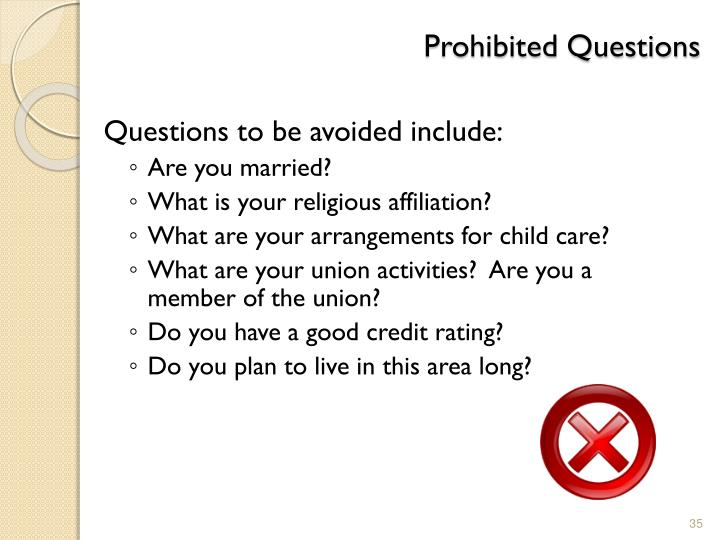 Prohibited Questions