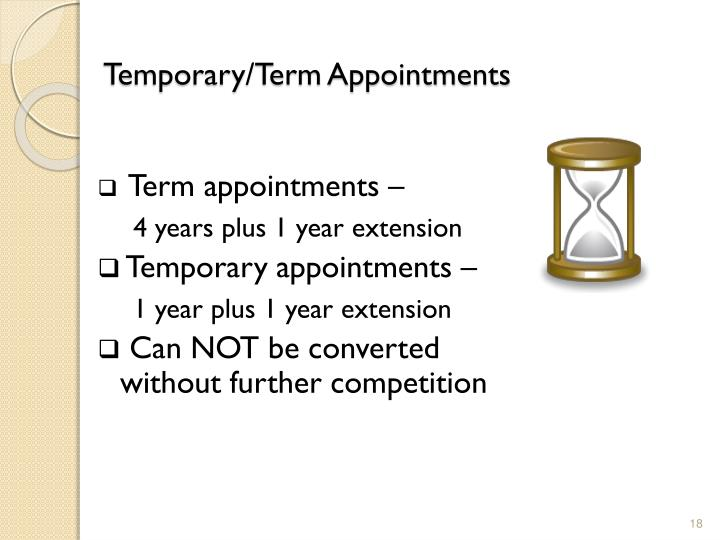 Temporary/Term Appointments