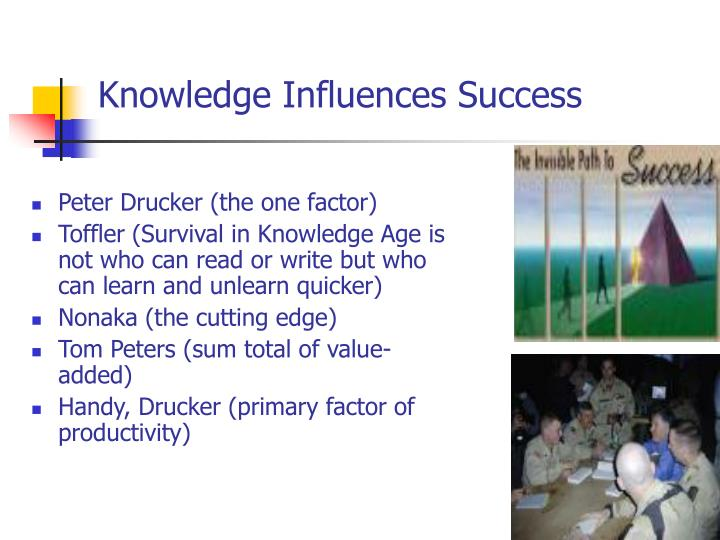 Knowledge Influences Success