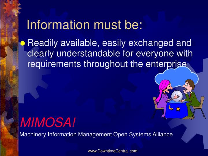 Information must be:
