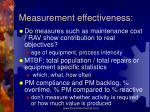measurement effectiveness