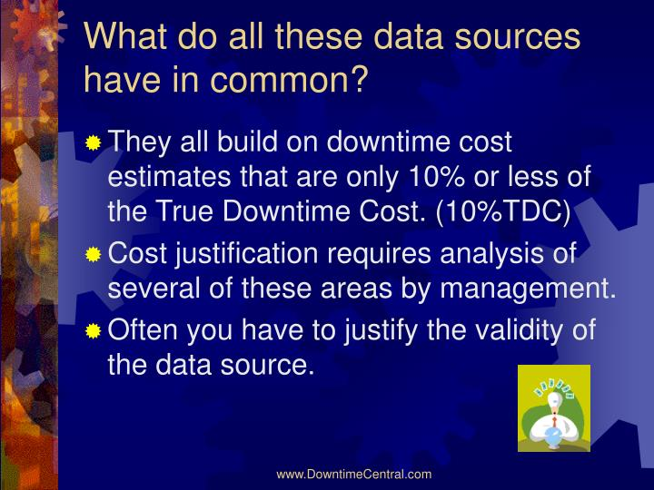 What do all these data sources have in common?