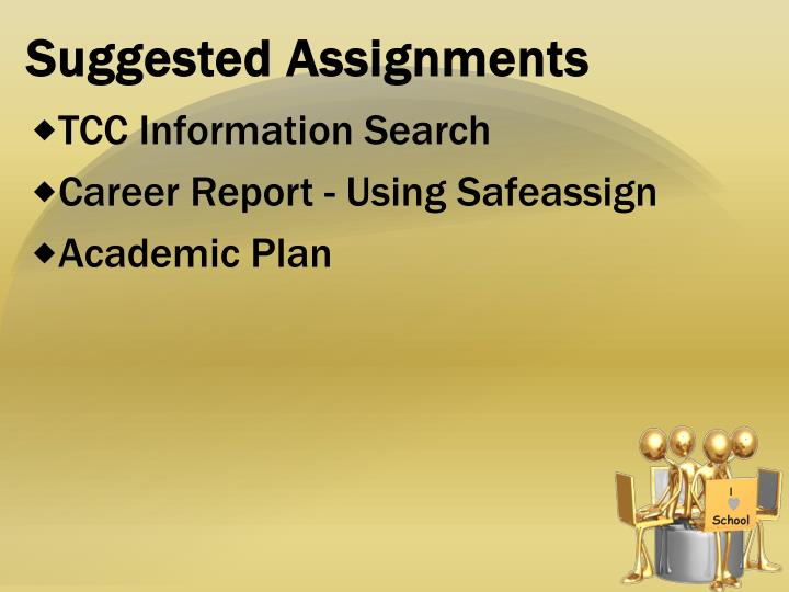 Suggested Assignments