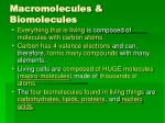 macromolecules biomolecules