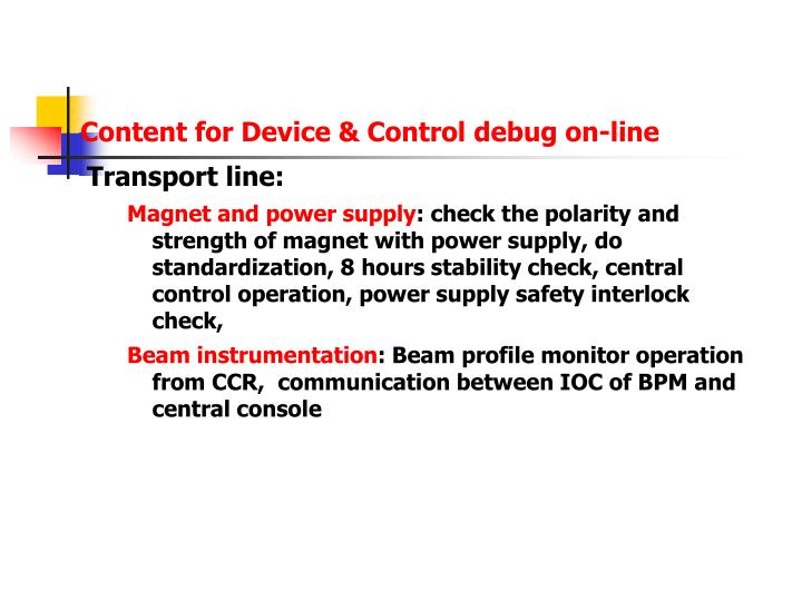 Content for Device & Control