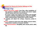 content for device control debug on line1