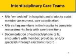 interdisciplinary care teams