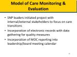 model of care monitoring evaluation