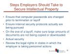 steps employers should take to secure intellectual property