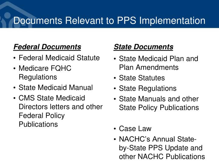 Documents Relevant to PPS Implementation