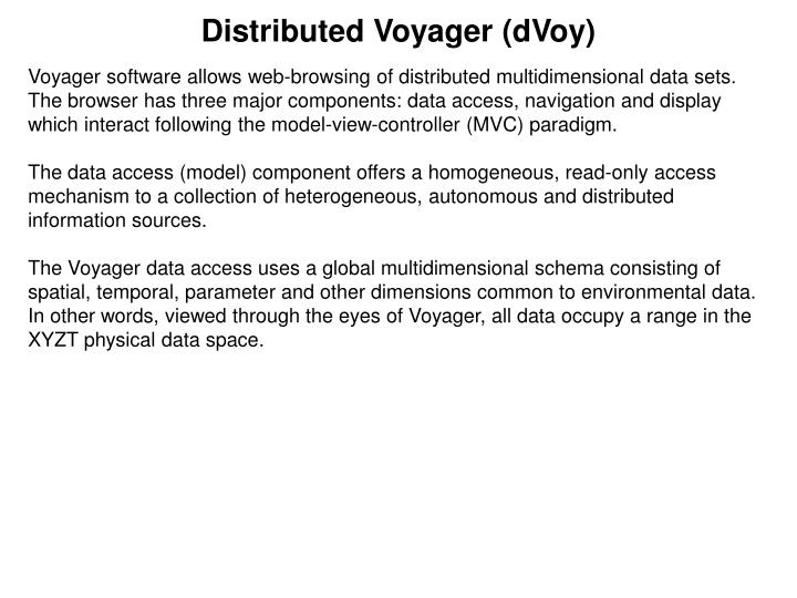 Distributed voyager dvoy