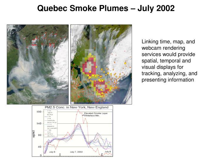 Quebec Smoke Plumes – July 2002