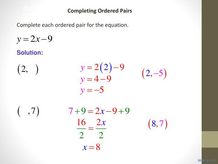 CLASSROOM EXAMPLE 3
