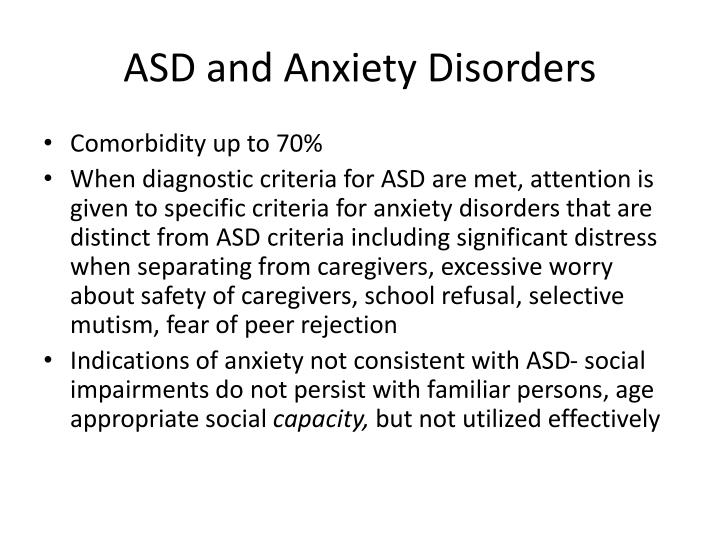 ASD and Anxiety Disorders