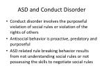 asd and conduct disorder
