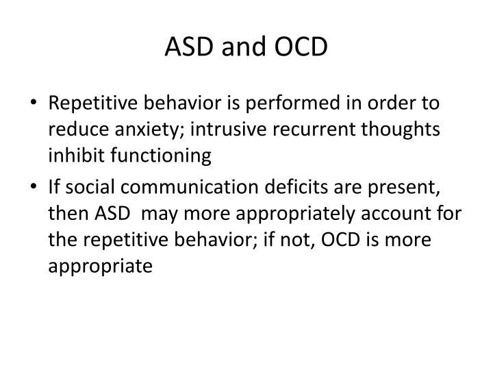 ASD and OCD
