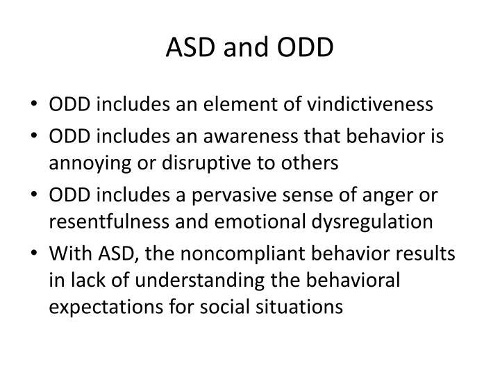 ASD and ODD