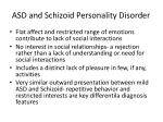 asd and schizoid personality disorder