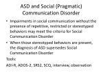 asd and social pragmatic communication disorder