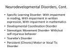 neurodevelopmental disorders cont1