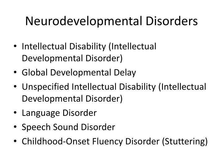 Neurodevelopmental Disorders