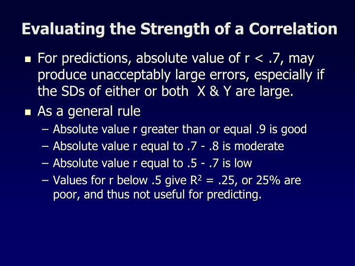 Evaluating the Strength of a Correlation