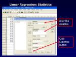 linear regression statistics