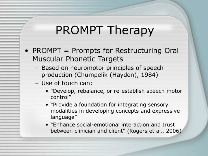 PROMPT Therapy