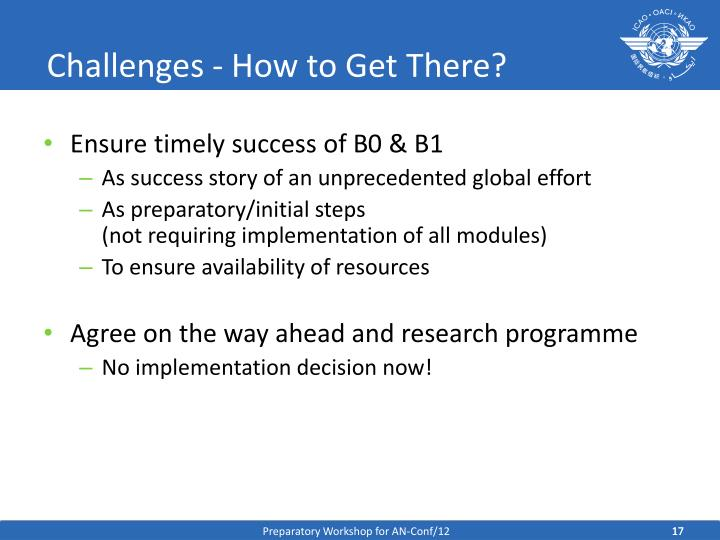 Challenges - How to Get There?