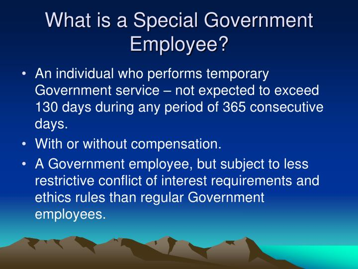 What is a Special Government Employee?