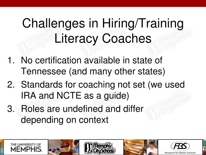 Challenges in Hiring/Training Literacy Coaches