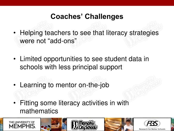 Coaches' Challenges