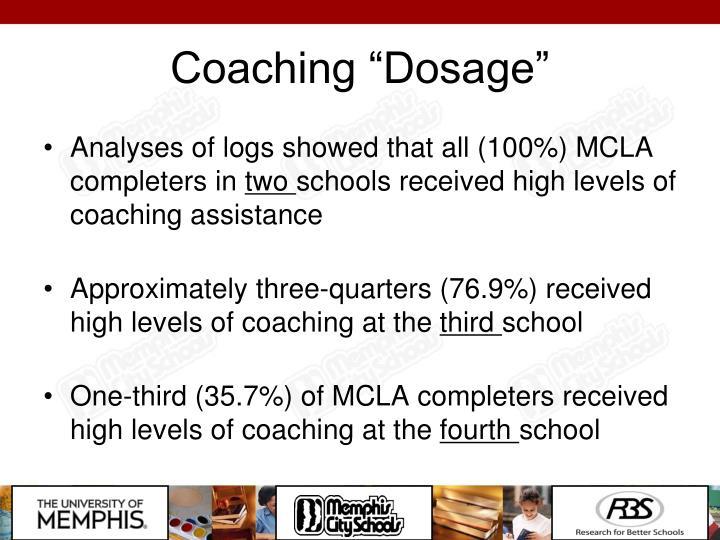"Coaching ""Dosage"""