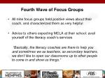 fourth wave of focus groups