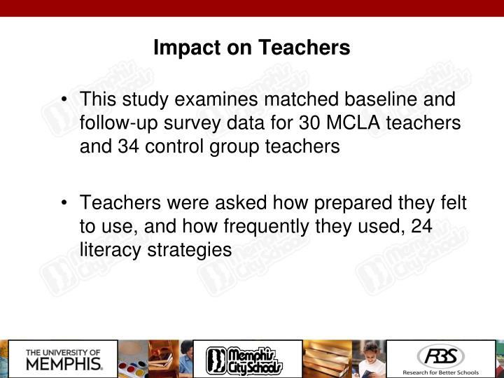 Impact on Teachers