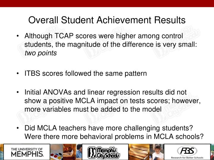 Overall Student Achievement Results