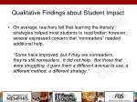 qualitative findings about student impact1