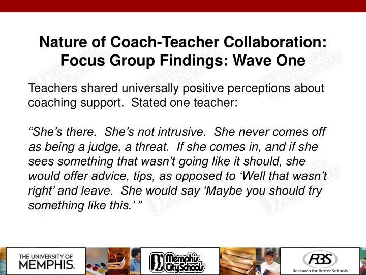 Nature of Coach-Teacher Collaboration: